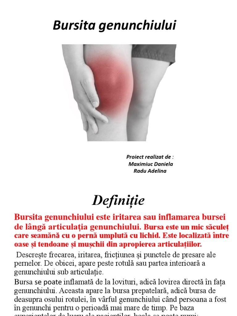 bursita infrapatelară a tratamentului articulației genunchiului drept boala țesutului conjunctiv difuz
